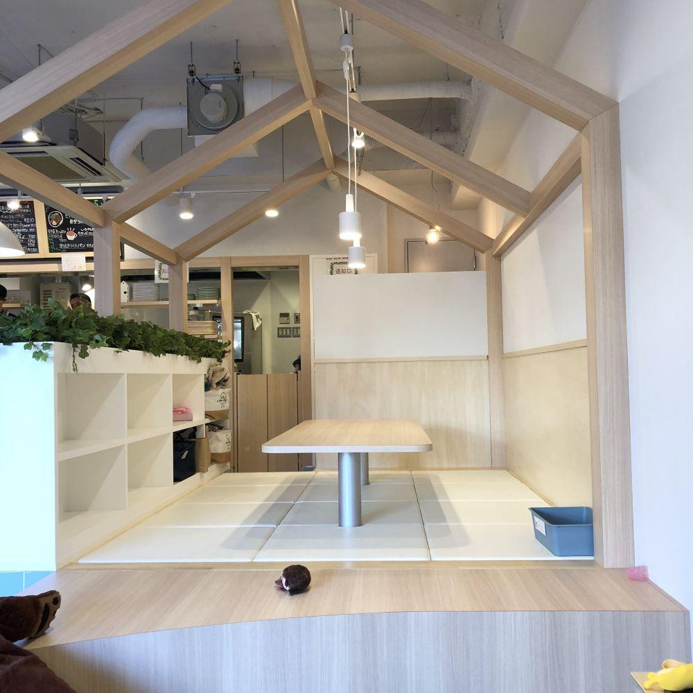 カフェの中にある座敷。仙台ではめずらしい